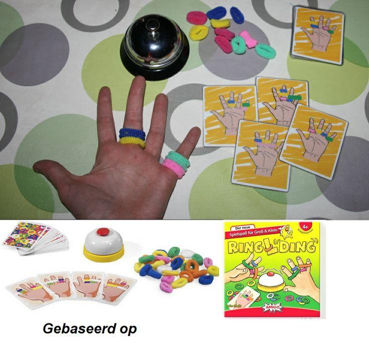 hang de rekkertjes op de juiste hand! - gebaseerd op het origineel spel: Ring L ding