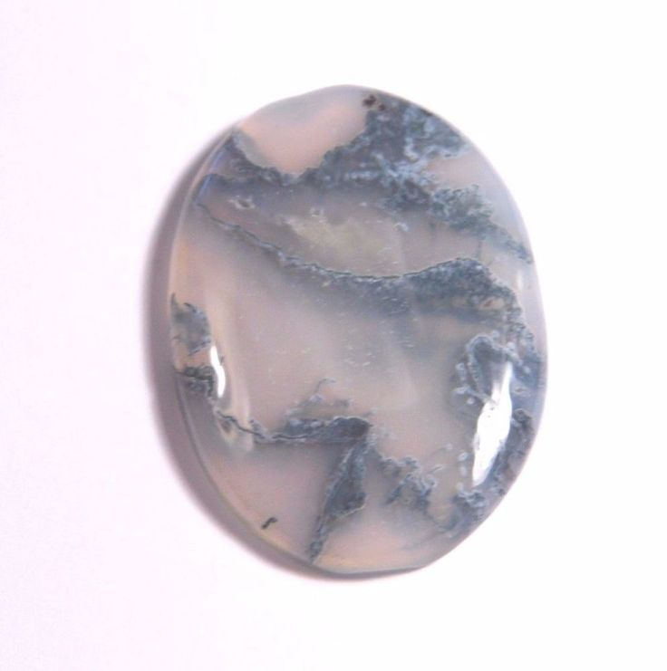 31.38Ct 33x24x5mm Green Moss Agate Oval Cabochon Wire Wrapping/Jewelry Making #Unbranded