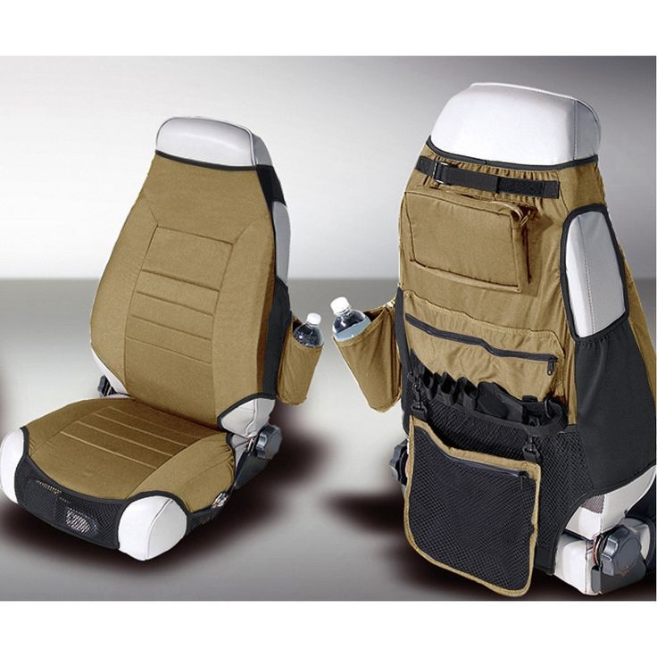 Fabric Seat Protector Vests, Spice; 76-06 Jeep CJ/Wrangler YJ/TJ