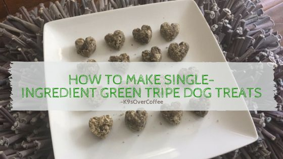 How To Make Single-Ingredient Green Tripe Dog Treats was last modified: March 26th, 2017 by