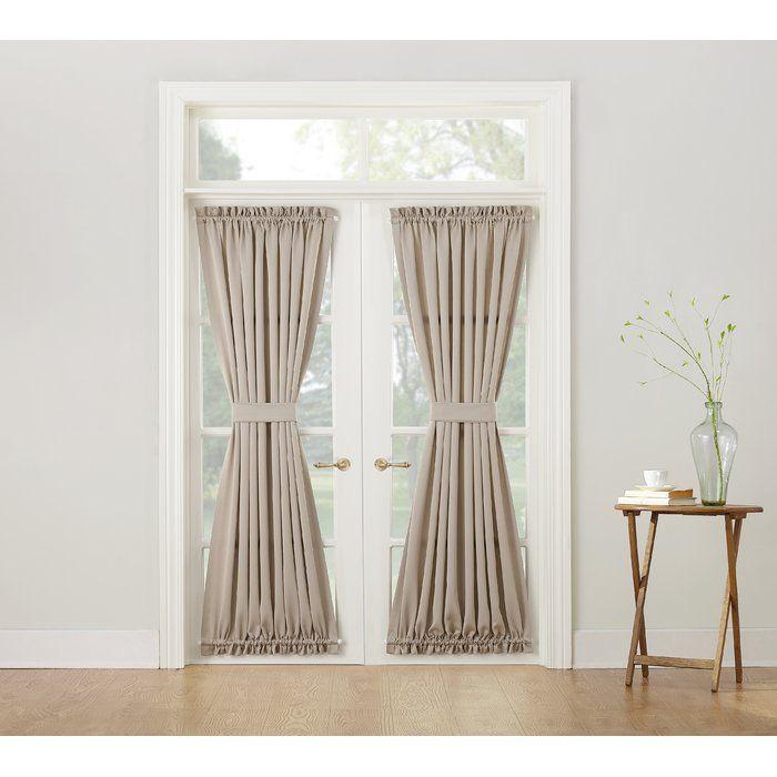 Groton Solid Room Darkening Thermal Rod Pocket Single Curtain