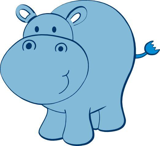 cute hippo free svg