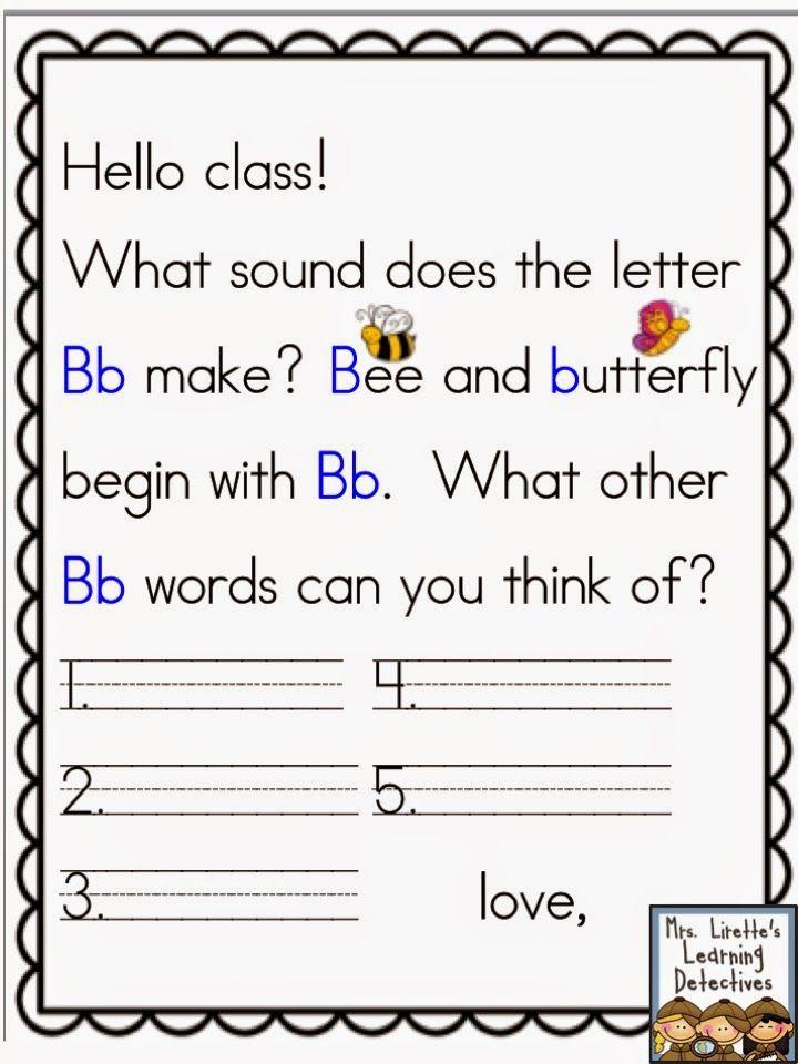Mrs. Lirette's Learning Detectives: Meaningful Morning Messages (Aug/Sept) for K!