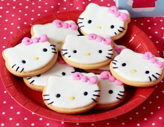 Hello Kitty Baby Shower Cookies & Milk - PinkDucky.com