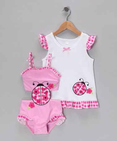 Take a look at this Baby Buns Ladybug One-Piece & Cover-Up - Infant & Girls by Baby Buns on #zulily today!