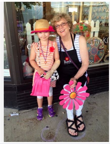 Annabelle - my youngest and most loyal customer - at the Ann Arbor Street Art Fair