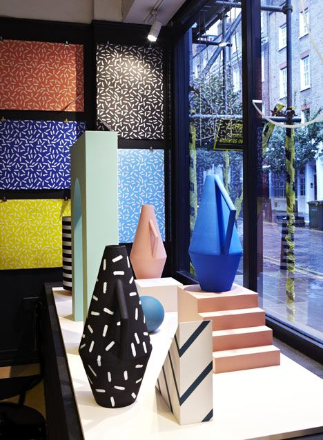 A series of Sottsass-inspired limited-edition vases.... Kora Vases by Spotti Edizioni