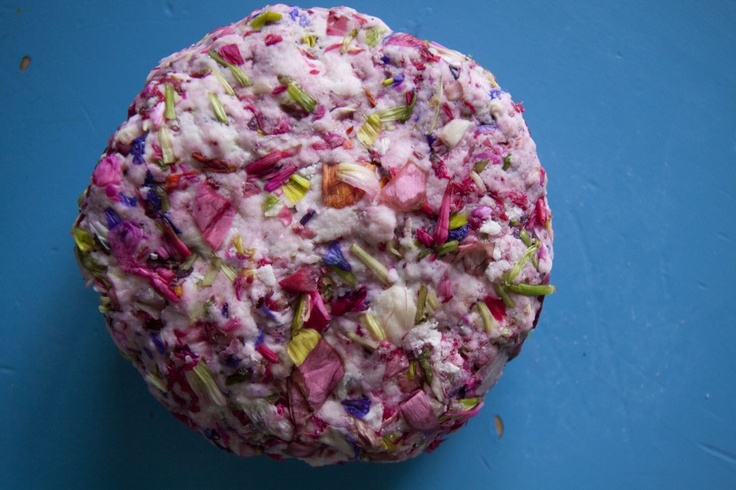 Flower petal play dough...I bet this smells lovely!