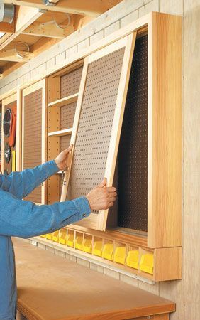 Sliding Door Shop Cabinet   Woodsmith Plans http://garageremodelgenius.com/category/garage-remodel-tips/