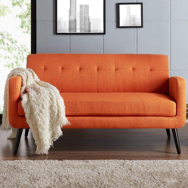 0f09a2742f1f70139b846f290f611749 - Better Homes & Gardens Porter Fabric Tufted Futon Rust Orange