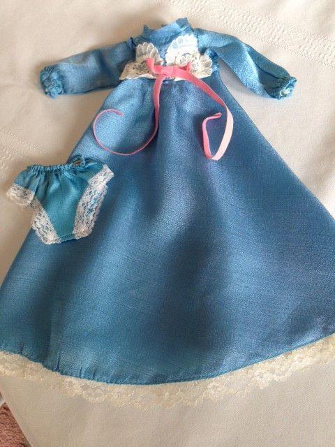 Vintage Crissy / Velvet Doll Blue Gown Set