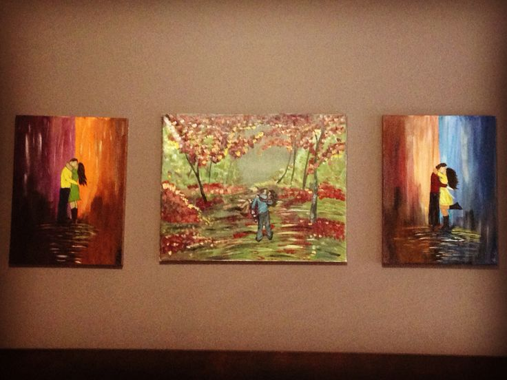 My bedroom paintings I completed. #acrylicpainting