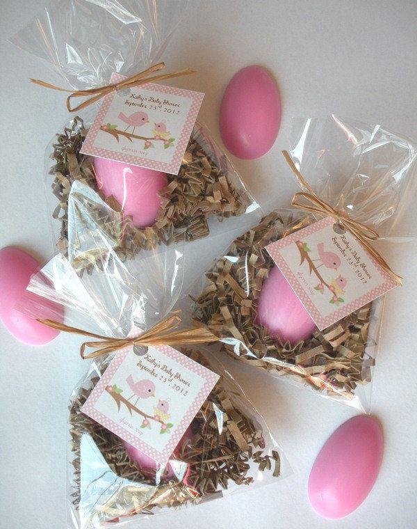 Exceptional 20 Egg Nest Nesting Bird Baby Shower Glycerin Soap Favors, Via Etsy.