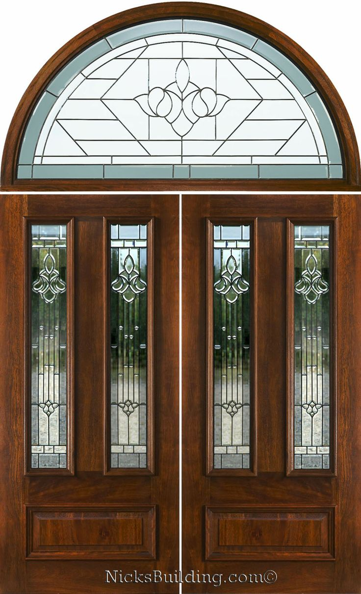 Double doors exterior double doors with half round for Half round transom