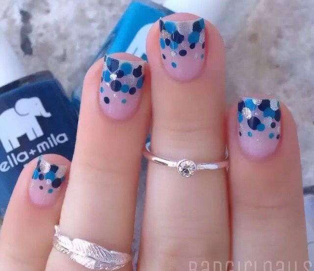 1000 ideas about u as decoradas en azul on pinterest - Unas azules decoradas ...