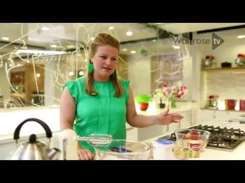 No-churn peach & ginger ice cream - Waitrose - YouTube