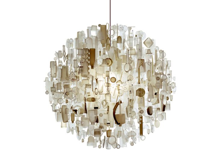Stuart Haygarth's amazing chandeliers made from recycled products