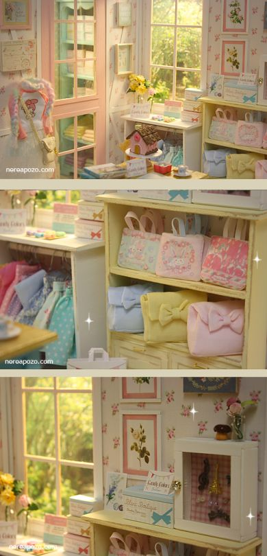 ♥ Handmade miniature diorama CANDY COLOR BOUTIQUE Shop ♥     Is in 1/6 scale , perfect for Blythe, Pulllip , Monster High ,Barbie , Momok...