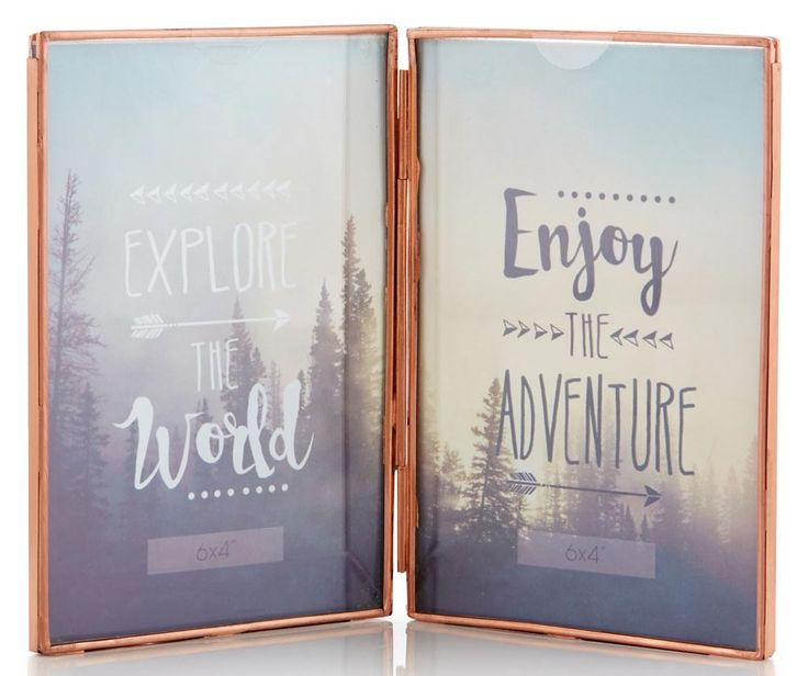 This rose gold coloured double photo frame from New Look is ideal if you are naming your tables after places or things – you can use one side for the table name, and the other for a picture of what it's named after.
