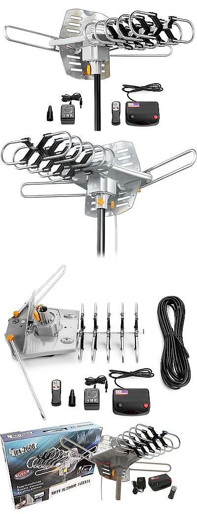 Antennas and Dishes: Amplified Hd Digital Outdoor Hdtv Antenna 150 Miles Long Range With Motorized... BUY IT NOW ONLY: $41.72
