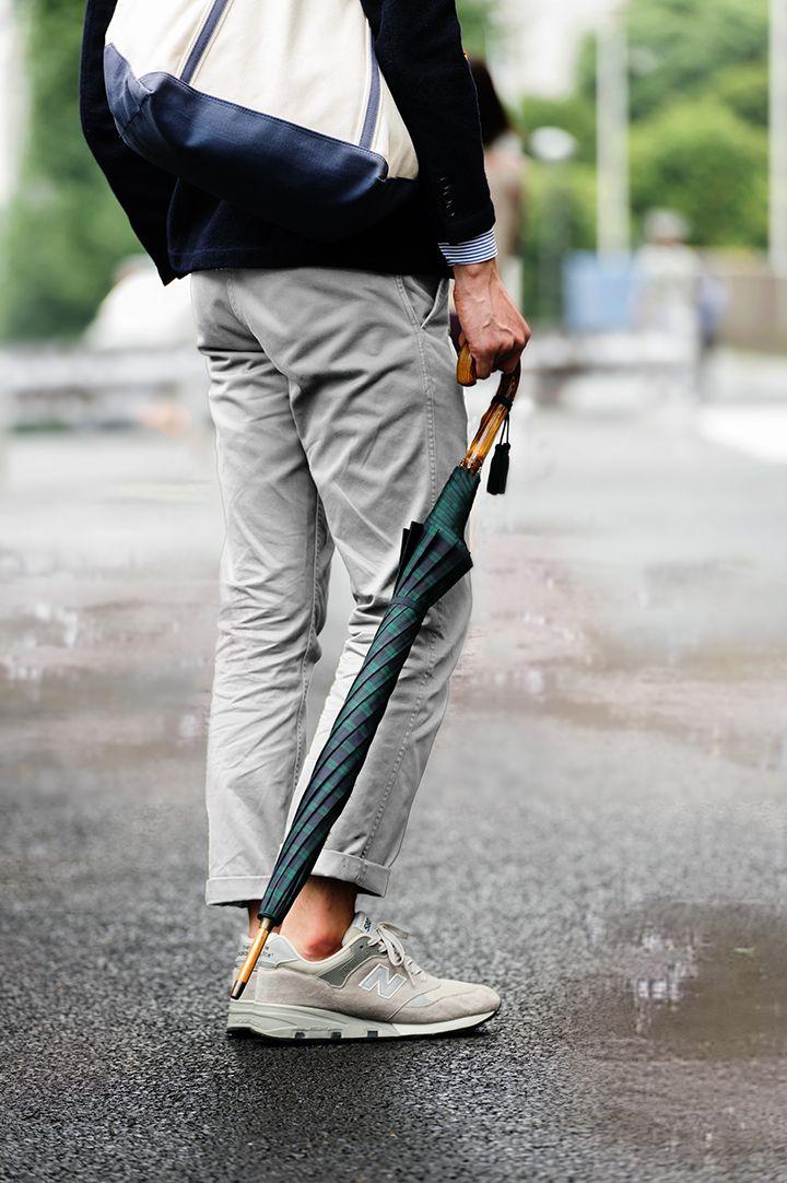 雨の日のオシャレを格上げしてくれる、重厚感あふれる柄ものの紳士傘