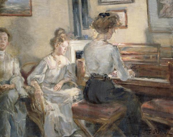 Fritz Karl Hermann Von Uhde - Evening Music - art prints and posters
