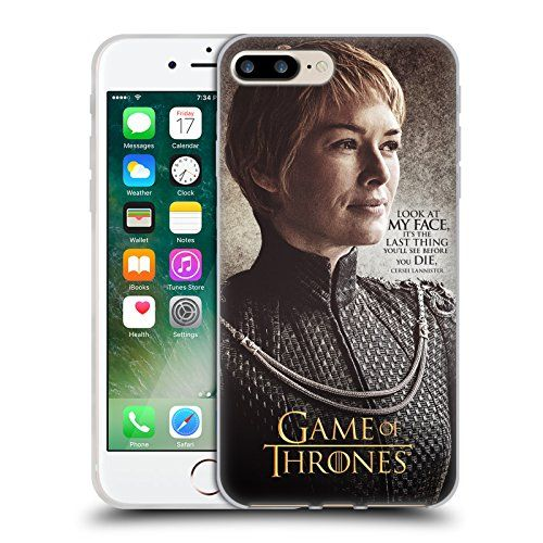 Official HBO Game Of Thrones Cersei Lannister Character Quotes Soft Gel Case for Apple iPhone 7 Plus