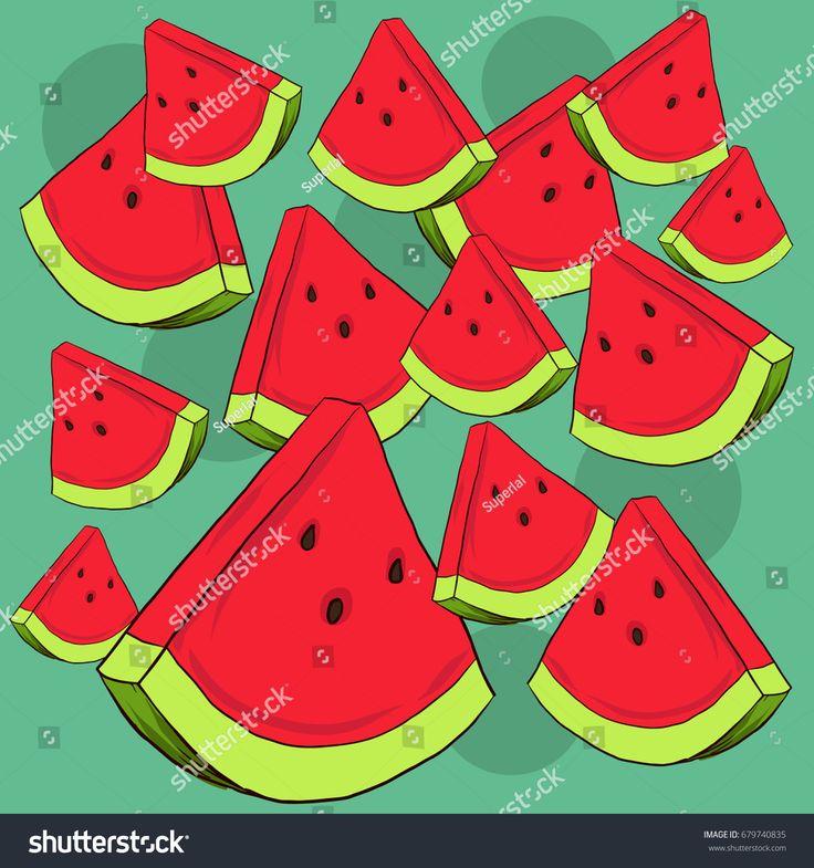 Watermelon Fresh Tropical Illustration