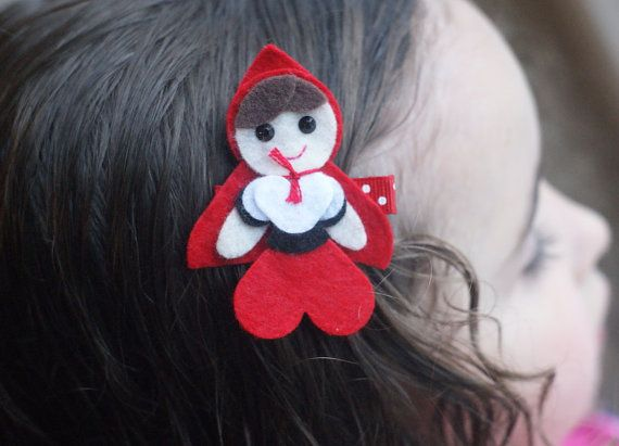 Little Red Riding Hood Hair Clip - Absolutely Adorable via Etsy