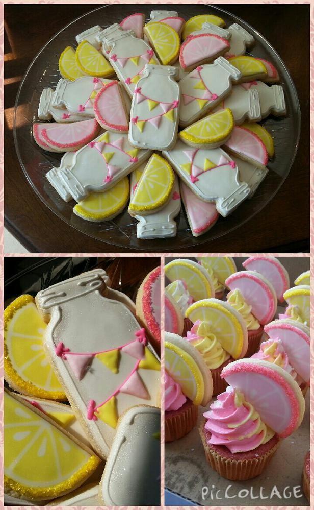 Pink Lemonade Party - Cookies & Cupcakes by Lisa Marie Loosier | Cookie Connection