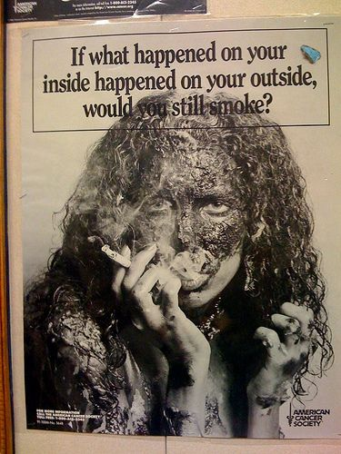 If what happened on your inside happened on your outside, would you still smoke?