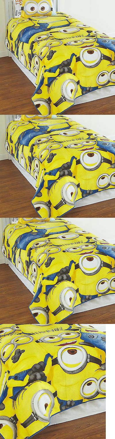 Blankets and Throws 66727: Minions Plush Blanket Despicable Me Fleece Soft Kids Bedroom Snuggle Microfiber -> BUY IT NOW ONLY: $34.21 on eBay!