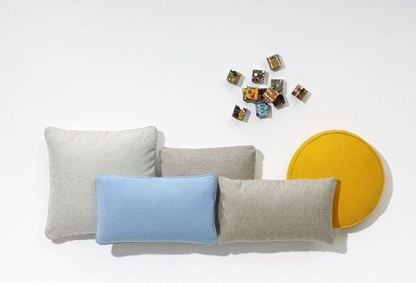 Luxurious Scatter Platter cushions provide maximum comfort and are available in soft fabric and leather in a range of cooling colours.