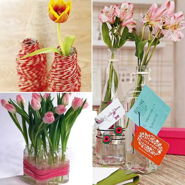 3 Ideas For DIY Recycling Glass Vases And Flower