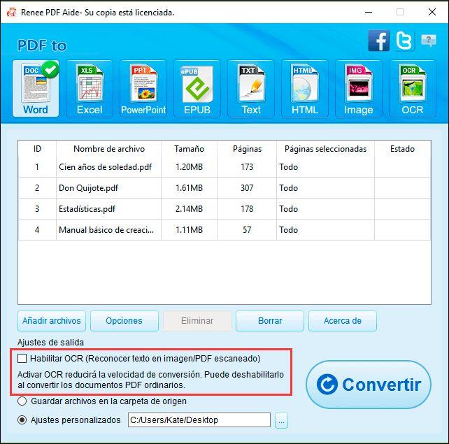 ¿Está buscando un convertidor de pdf a word? Entonces no se pierda Renee PDF Aide. Se trata de una herramienta de conversión de PDF gratuita y práctica.  https://www.reneelab.es/descargar-un-gratuito-convertidor-de-pdf-a-word.html