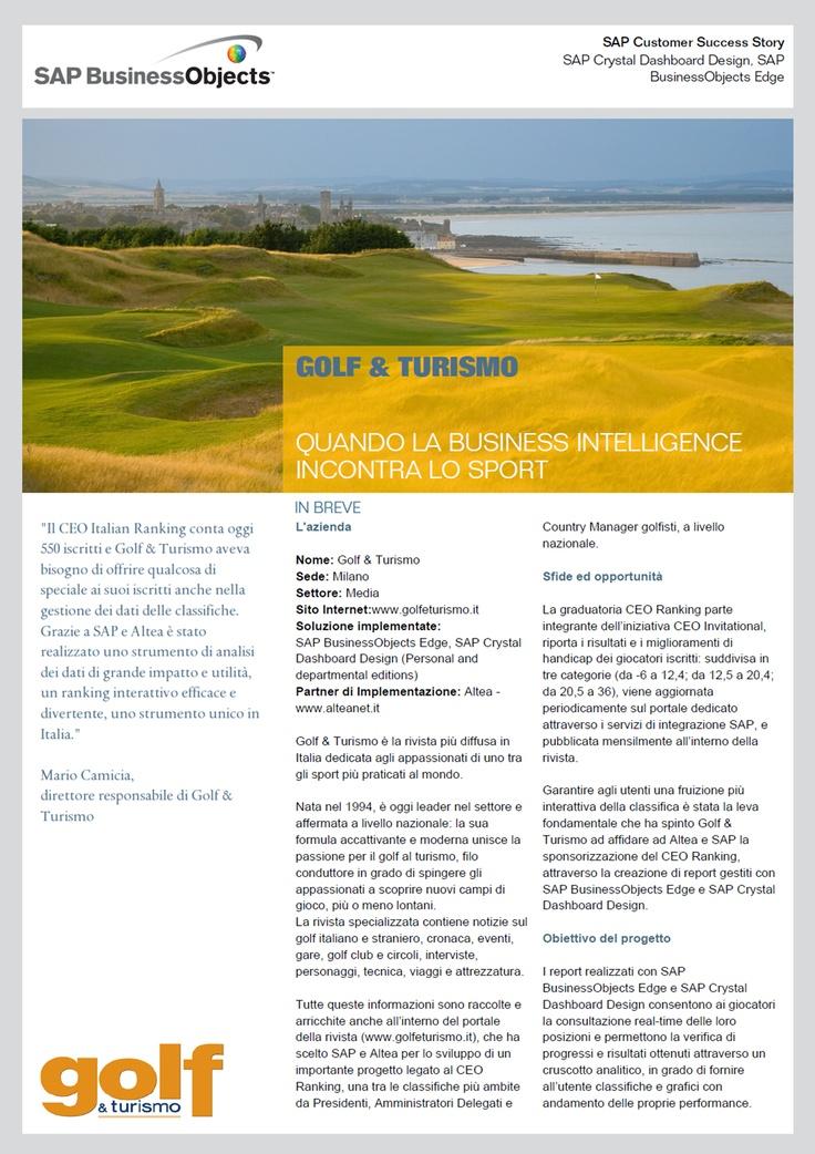 Golf e Turismo - SAPSuccessStory - Business Intelligence