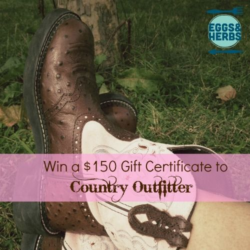 From Bare Feet to Cowboy Boots ($150 Country Outfitter Giveaway)