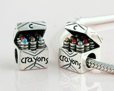 Exclusive Pandora Silver Crayons Box Charm Bead                                                                                                                                                                                 More