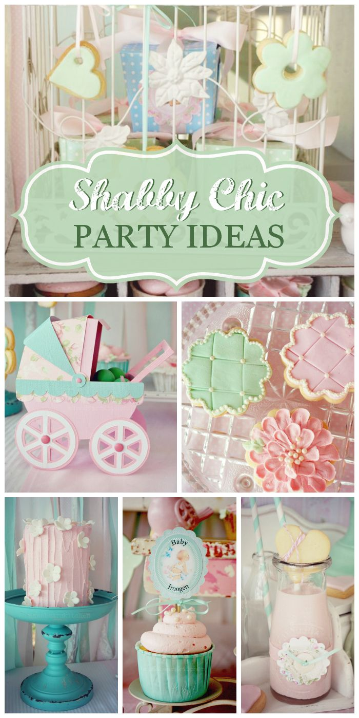 Pretty pastels are everywhere at this gorgeous Shabby Chic party!  See more party ideas at CatchMyParty.com!