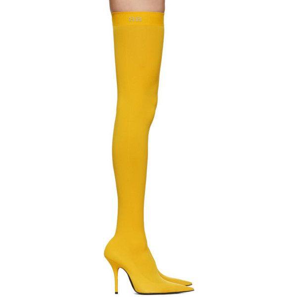Balenciaga Yellow Sock BB Thigh-High