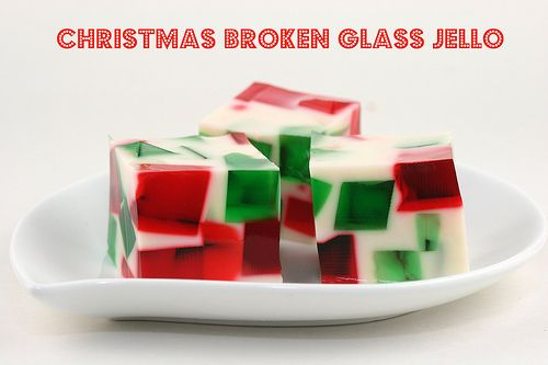 Christmas Broken Glass Jello.  Kids would love this...