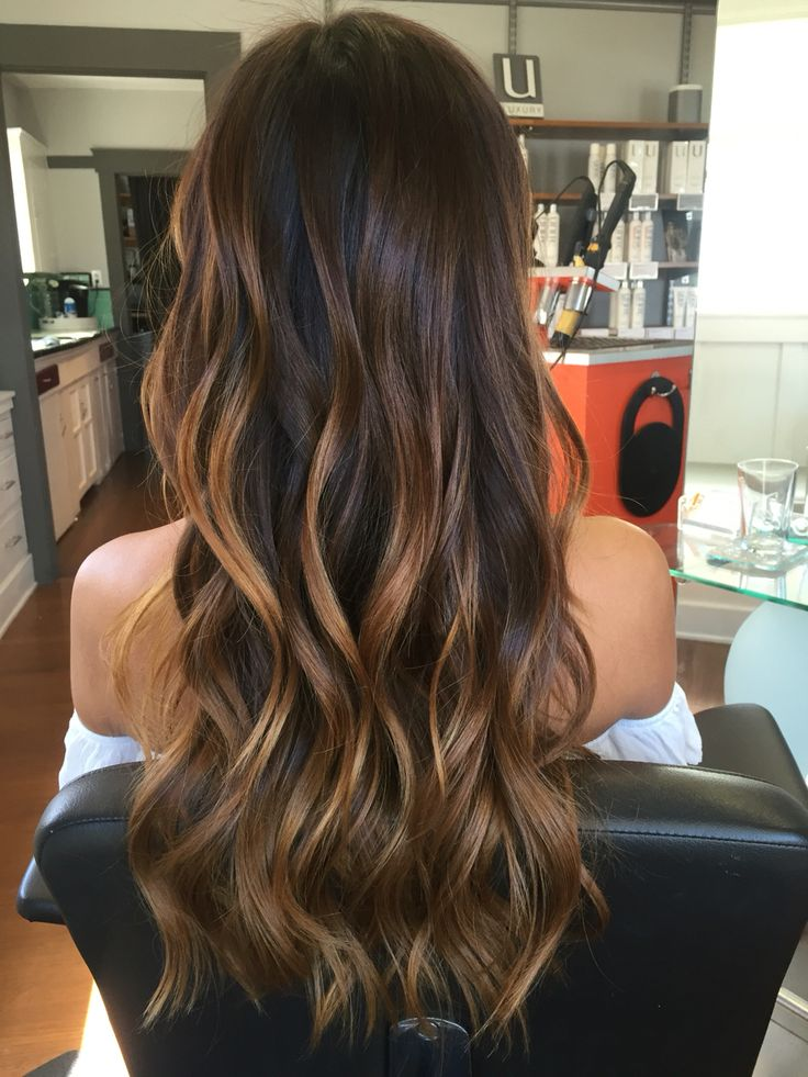 Hair painted/Balayage I did on this gorgeous hair!