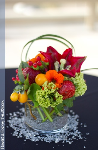 Strawberries and kumquats with floralsBouquets Floral, Floral Arrangements, Floral Art