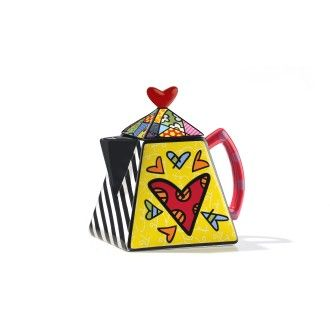 Heart Teapot by Britto