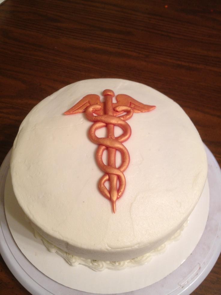 Simple & Classic-Like Nurse graduation cake idea