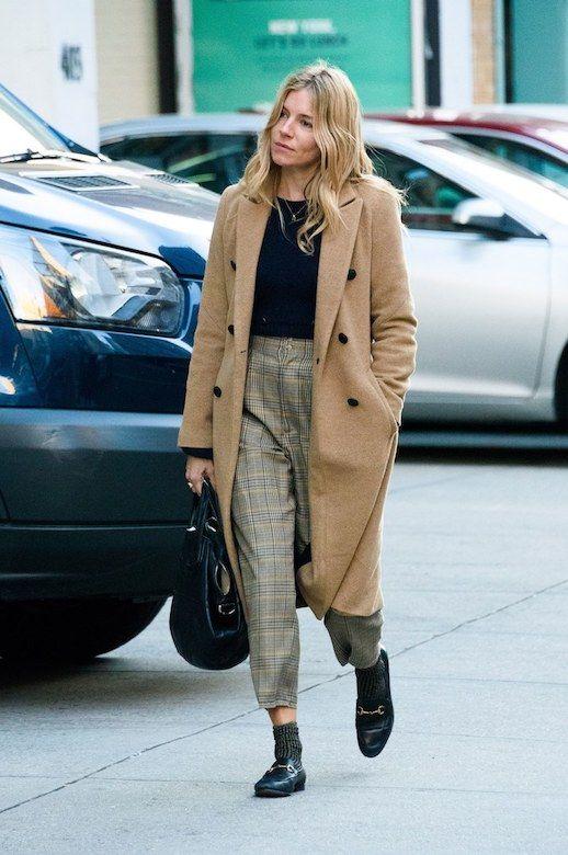 2129c071347 Sienna Miller Bundles Up In Layered Neutrals (Le Fashion)