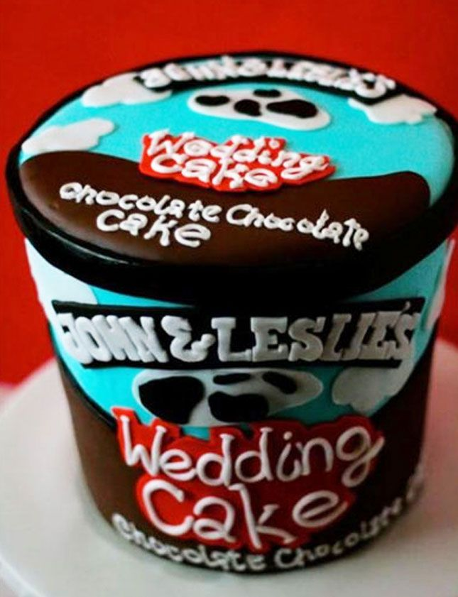 The 20 Wackiest Wedding Cakes Ever via Brit + Co.