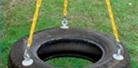 How to make a tire swing! Cheap!   TIP: We just called our local mechanic and they gave us a tire for FREE!!