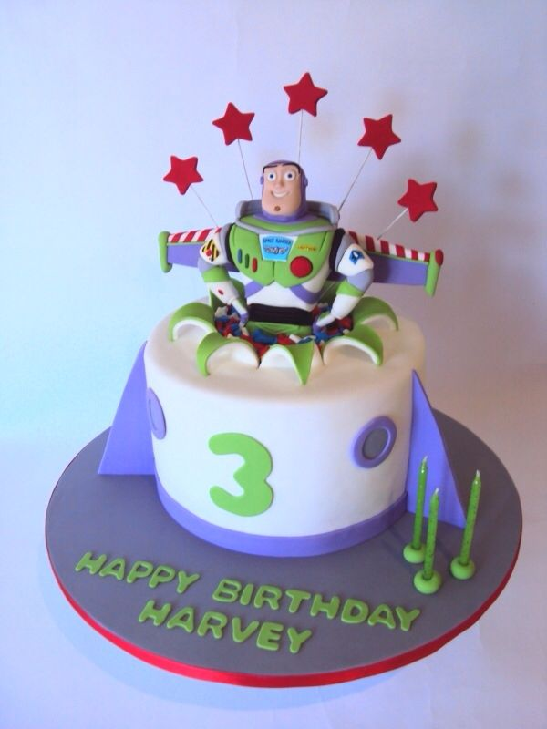 Spectacular Buzz Lightyear Cake Cakes 3rd Birthday