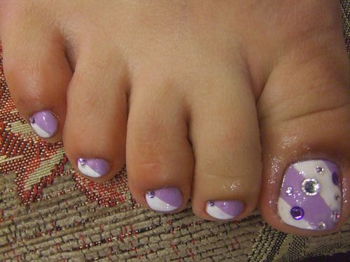 Toenail Designs For Pedicure | Purple Toes Pedicure nails